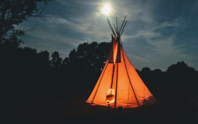 Investér i et tipi telt til den lille indianer